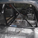 Hyundai_Excel_rally_car_roll_cage_fitting
