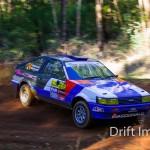 Rear wheel drive rally car. Toyota AE86 Sprinter