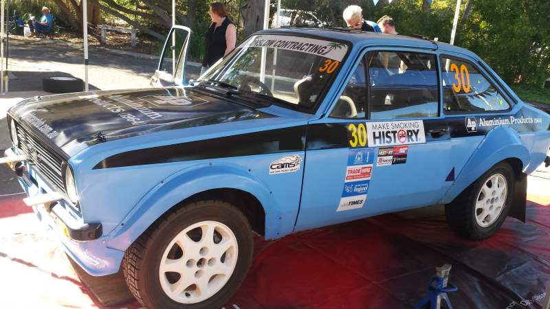 Club rally car Escort MK 2