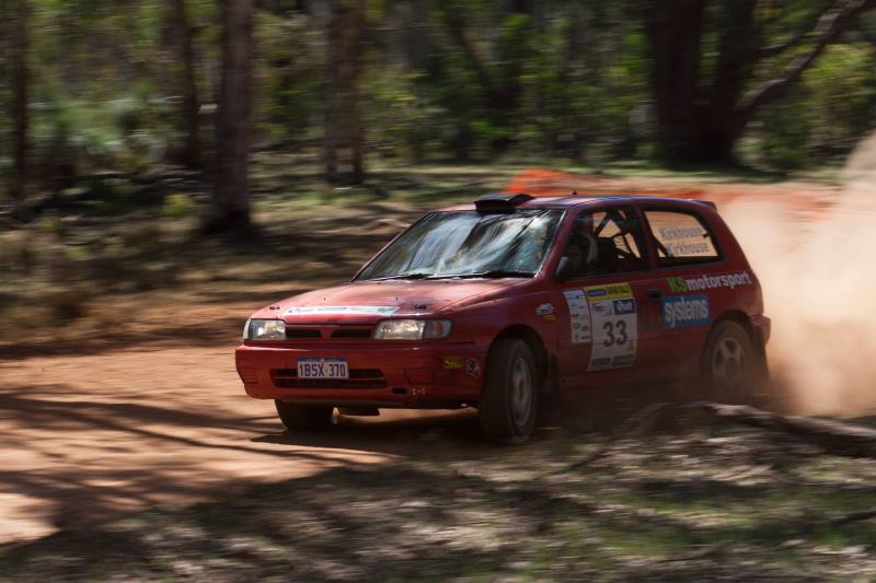 A Production rally car Nissan Sunny.