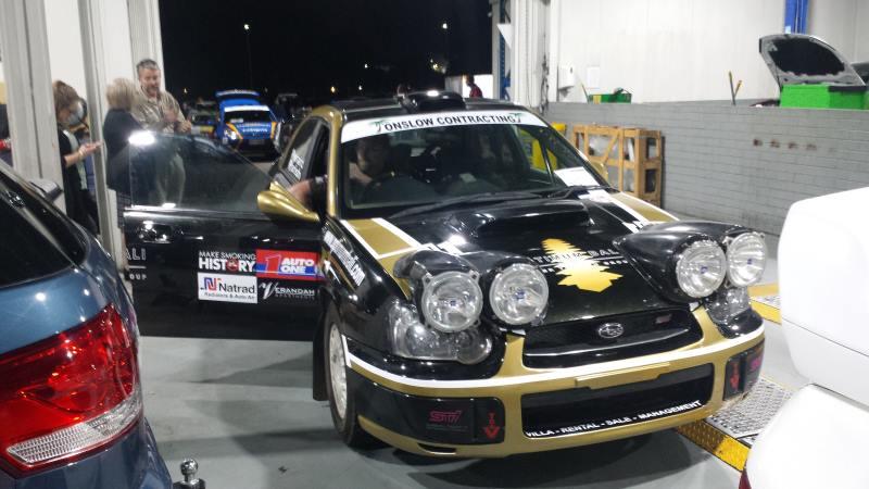 Light pods on a WRX rally car