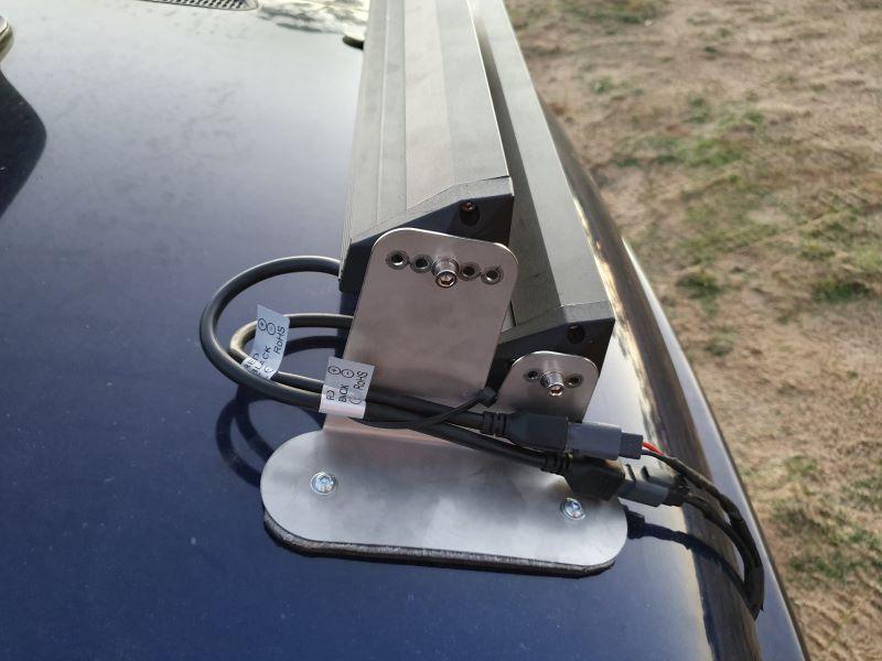 Side view of LED light bar mounts