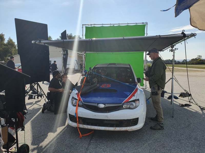 In car scenes for the Lotto commercial