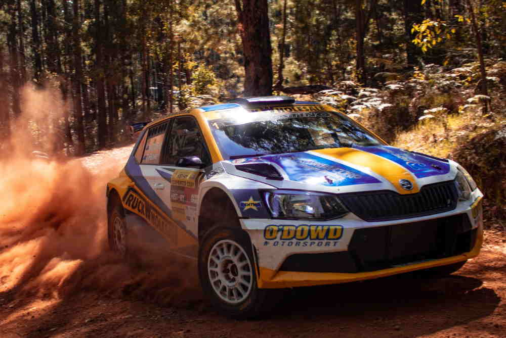 John O'Dowd/Toni Feaver wining the 2019 WA Rally Championship. The will feature highly in the 2020 Rally WA calendar