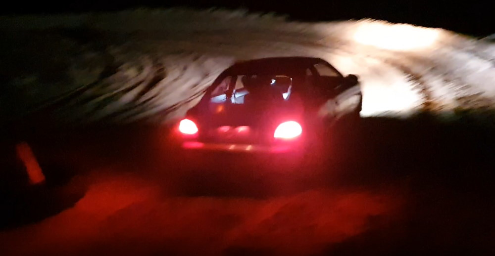 Stuart and Angela Hewer on thier way to 5th place before the gearbox blew. Round 4 Zestino Rally Sprints.