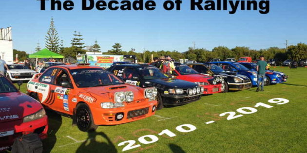 Cars lined up for the start of the 2019 WA Rally season