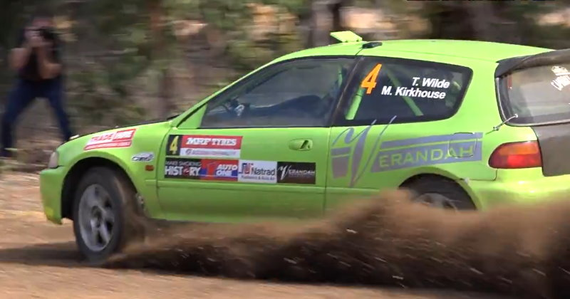 Tom Wilde and Maddie Kirkhouse do the impossible and win the 2017 WA Rally Championship in thier Honda Civic