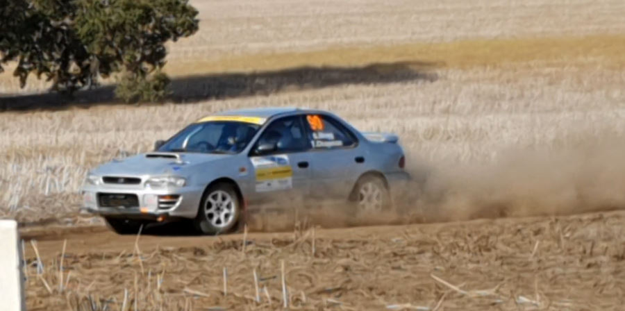 Tiana and Graham secure in second place in their clubman rally car on the Winvale stages rally.