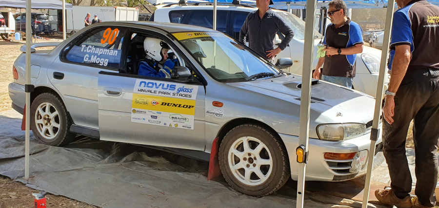 Tiana and Graham about to head out to the first stage of the Winvale rally